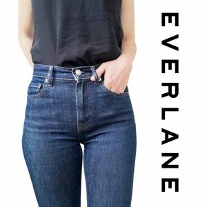 Everlane Dark Wash Skinny Mom Jeans